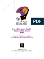 2011 Sean Simmons Youth Scholarship