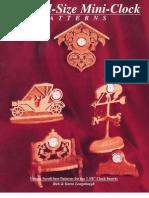 400 Full-Size Mini Clock Patterns