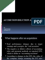Accretion Dilution Analysis