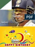 Happy Birthday Sachin by Niraj Agarwal