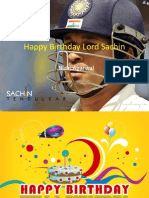 Happy Birthday Sachin by Niraj Agarwal