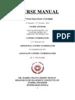 Course Manual