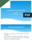 CLASES DE SOLICITUD