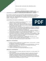 Características del contrato de distribución