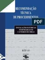 INSTALAÇÕES ELETRICAS EM CANTEIROS DE OBRAS
