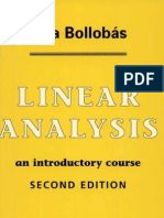 Bollobas Linear Analysis
