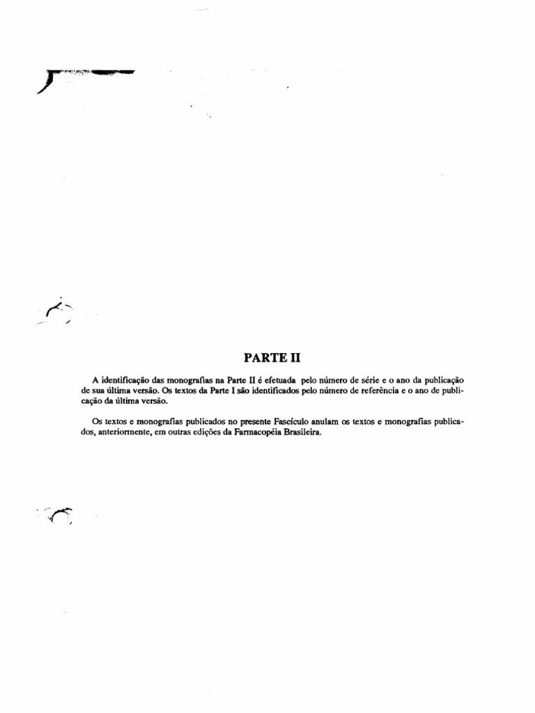 farmacopeia brasileira parte ii fasciculo 5