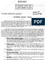 Japanese Ammunition Leaflets Section F - Japanese Mines & Booby Traps