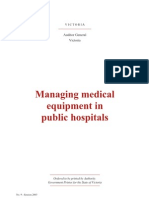Gestion de equipo biomédico en hospitales publicos