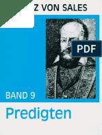 Predigten - Franz von Sales