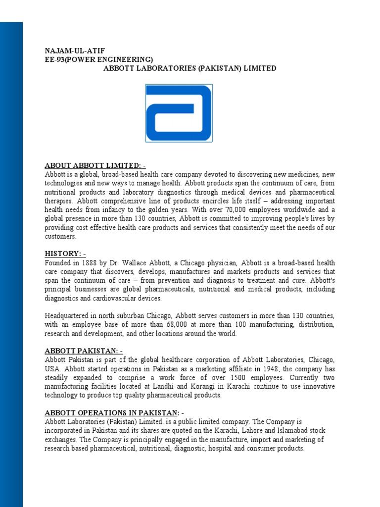 Abbott Nutrition Manufacturing