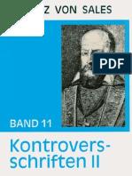 Kontroversschriften II - Franz von Sales