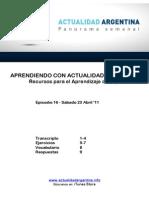 Aprendiendo Con Actualidad Argentina - Episodio 16