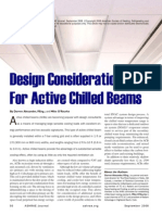 Active Chilled Beam Design Considerations ASHRAE Journal 9 2008