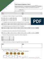diagnóstico matemática