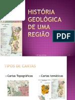 História Geológica de uma Região - cartografia