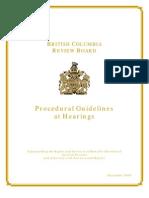 Procedural Guidelines Dec 2009 Final