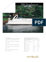 Sea Ray Sundancer 380 (2001) Spec Sheet