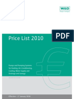 WILO Price List 2010 INT Eng