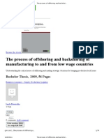 The Process of Off Shoring and Back Shoring of Manufacturing to and From Low Wage Countries _ Understanding the Critical Issues o