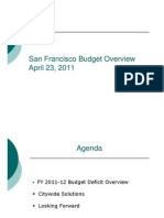 SF budget overview - Mayor's Office of Budget - Town Hall 20110423