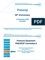 PN6 Pneurop 50th Anniversary Brussels Nov 2008 Pressure Equip