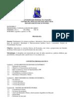 Economia I Cronograma PDF