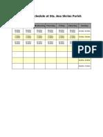 Catholic Mass Schedule at Sta. Ana Parish