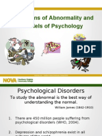 PSY 202 Abnormal Definitions and Psychological Models