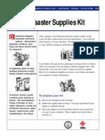 Family Disaster Supplies Kit