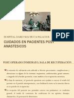 Cuidados en Pacientes Post Anastesicos