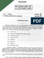Japanese Ammunition leaflets Section H - Japanese Demolition Stores