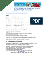 RECONSTRUCCIÓN COLATERAL CUBITAL DEL LIGAMENTO
