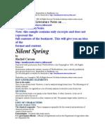 Silent Spring by Rachel Carson
