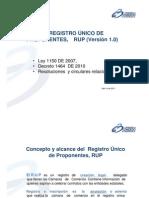 presentacion registroproponentes 2011