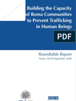 Building the Capacity of Roma Communities to Prevent Trafficking in Human Beings
