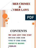 51144240 08 Cyber Crime Cyber Laws Final Ppt