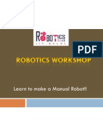combined basic mechanical  electrical aspects - manual robot