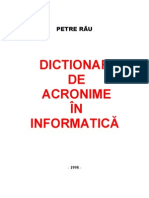 Dictionar de Acronime in a