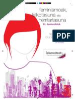 Plazandreok III Jornadas Feminismoak Laikotasuna
