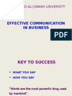Effective Communication in Business(Fall 2010)