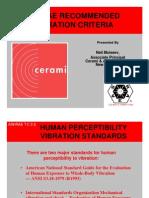 Vibration Criteria