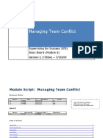 M6 Managing Team Conflict Storyboard RM 3162010