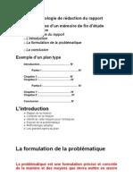 Méthodologie de rédaction du rapport