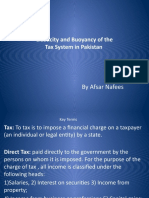 Elasticity and Buoyancy of the Tax System in Pakistan