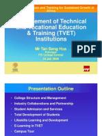 Session35-TanSengHua-ManagementofTVETInstitutions