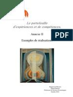 Le portefeuille numérique d'expériences et de compétences Annexe 2 Expériences
