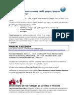 Facebook, diferencias entre perfil, grupo y página. ¿Qué me conviene?