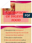 Absorption of Digested Food