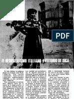 El neorrealismo italiano y Vittorio de Sica - Pablo Béllar
